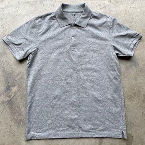 UNIQLO Grey Short Sleeve Polo Shirt